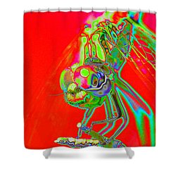 Red Dragon Shower Curtain by Richard Patmore