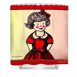 Red Dress Shower Curtain