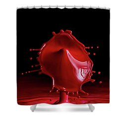 Red Drop Shower Curtain