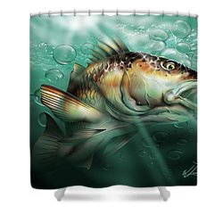 Red Drum Shower Curtain