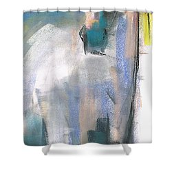 Shower Curtain featuring the painting Red Ears by Frances Marino