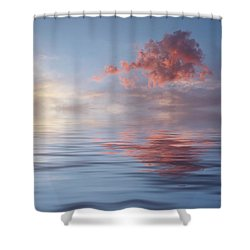 Red Emotion Shower Curtain by Jerry McElroy