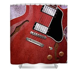 Red Es-335 Shower Curtain