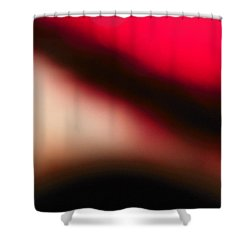 Red Explorer Abstract Shower Curtain