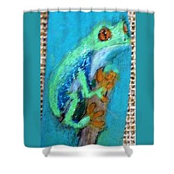 Red-eyed Tree Frog Shower Curtain by Ann Michelle Swadener