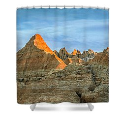 Red Faced Panorama Shower Curtain