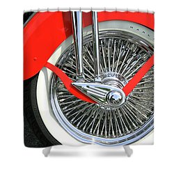 Red Fender Shower Curtain