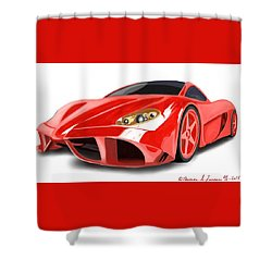 Red Ferrari Shower Curtain