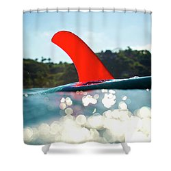 Red Fin Shower Curtain
