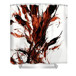 Red Flame 66.121410 Shower Curtain by Kris Haas