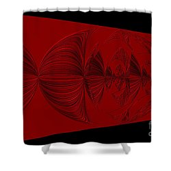 Red And Black Design. Art Shower Curtain