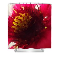 Red Flower Abstract Shower Curtain