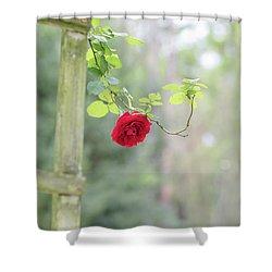 Red Flower Garden Shower Curtain
