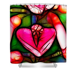 Shower Curtain featuring the photograph Red Flower Up Close by Mariola Bitner