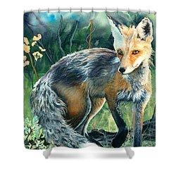Red Fox- Caught In The Moment Shower Curtain