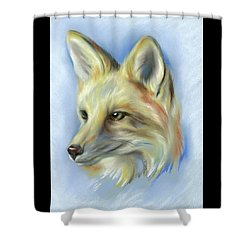 Shower Curtain featuring the pastel Red Fox Portrait by MM Anderson