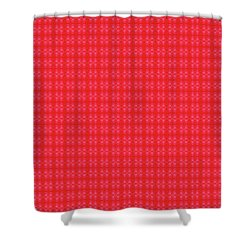 Shower Curtain featuring the painting Red From The Heart by Kym Nicolas