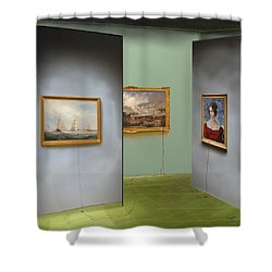 Red Gallery Shower Curtain
