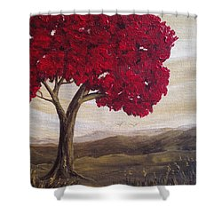 Red Glory Shower Curtain