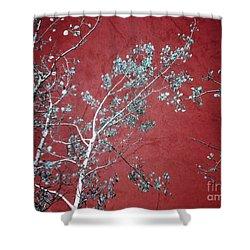 Red Glory Shower Curtain by Tara Turner