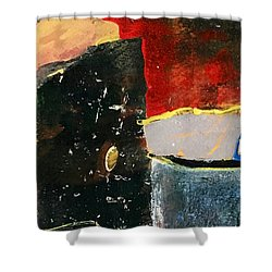 Red Glow Shower Curtain
