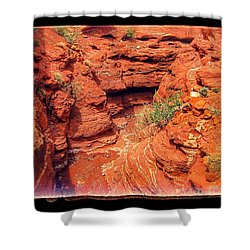 Red Gorge Shower Curtain