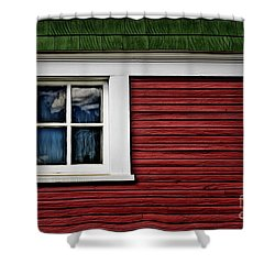 Shower Curtain featuring the photograph Red Green by Brad Allen Fine Art