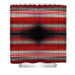 Red Grid Abstract Shower Curtain