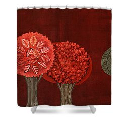 Red Grove Shower Curtain