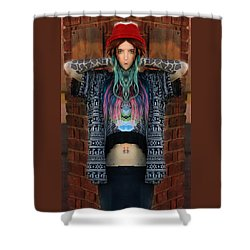 Red Hat Grunge Shower Curtain