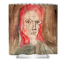 Red Headed Stranger Shower Curtain by A K Dayton