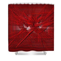 Red Heartwires Shower Curtain