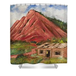 Red Hill And Cabin Shower Curtain