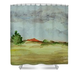 Red Hill Landscape Shower Curtain