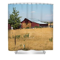 Red Home On The Range Shower Curtain