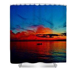 Red Horizon Shower Curtain