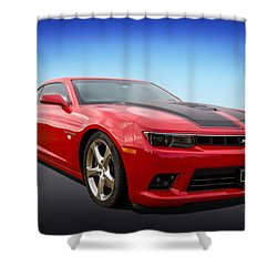 Shower Curtain featuring the photograph Red Hot Camaro by Keith Hawley