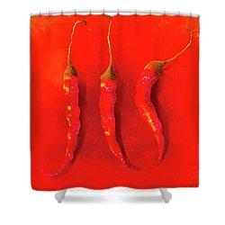 Red Hot Chili Pepper II Shower Curtain