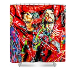 Red Hot Chili Peppers In Color II  Shower Curtain