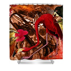 Red Hot Soul Music Shower Curtain