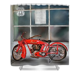 Red Hot Tail Gunner Shower Curtain by Colleen Taylor