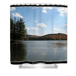 Red House Lake Allegany State Park Ny Shower Curtain by Rose Santuci-Sofranko