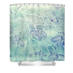 Shower Curtain featuring the photograph Red Huckleberry Blues  by Connie Handscomb
