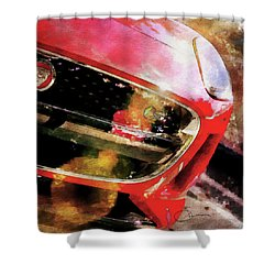 Red Jag Shower Curtain