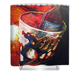 Red Shower Curtain by Jan VonBokel