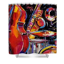 Red Jazz Shower Curtain