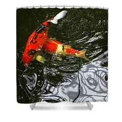 Red Koi Fish Shower Curtain