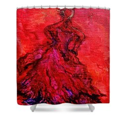Red Lady Shower Curtain