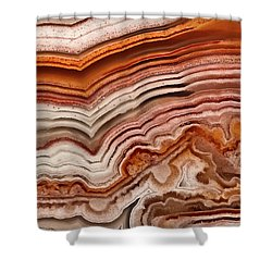 Red Laguna Lace Agate Shower Curtain
