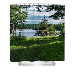 Red Lake Ontario 2 Shower Curtain